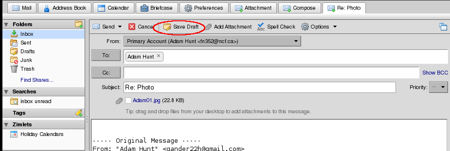 File:Zimbra Saving A Draft.png