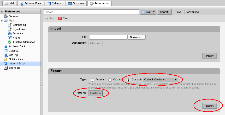 File:Zimbra Export Contacts.png