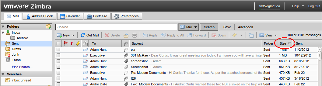 Zimbra deletion of messages.png