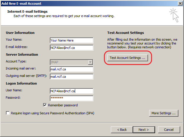File:9 - Outlook 2007 - Test Email Settings.png