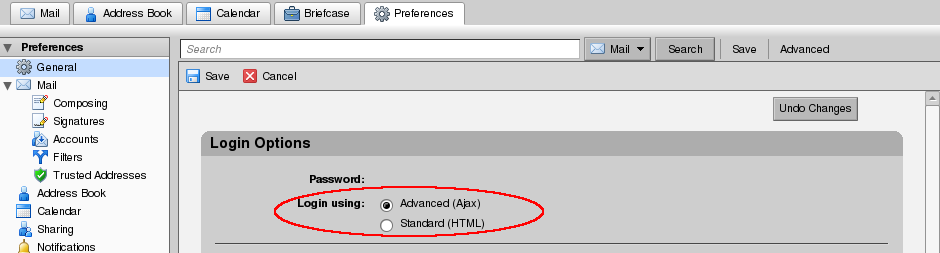 Zimbra advanced vs standard login.png
