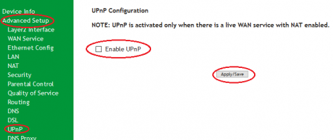 SR505n-Secure- Disable UPnP