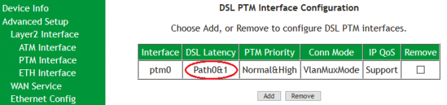 SR505n - Confirm VDSL (PTM) Interface Setup