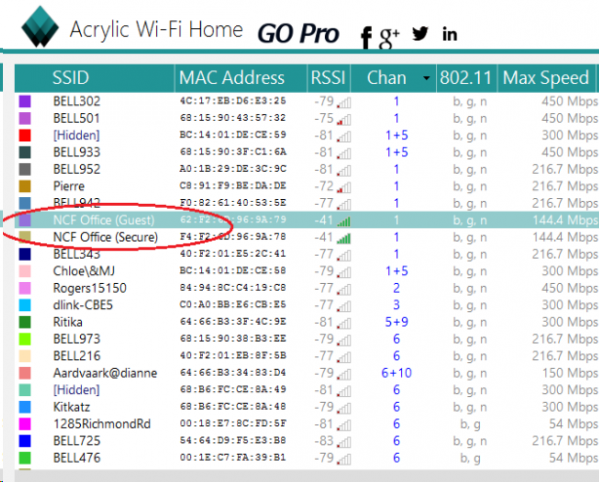 AcrylicWiFi - Selecting Your Wifi Network