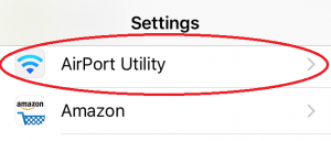 AirPortUtility - In IOS Settings