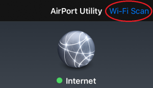 Airport Utility - WiFi Scan