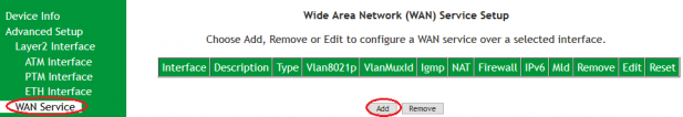 SR505n- Add WAN(PPPoE) ADSL configuration